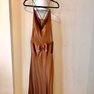 Dresses & Skirts - Gorgeous Bronze Satin Dress